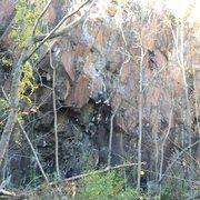 Rock Climbing Photo: Hunter on Traxamillion and Eva on the right on The...