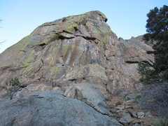 Rock Climbing Photo: Lower left face of Sentinel Rock.