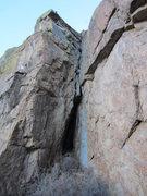 Rock Climbing Photo: Large crack on Sentinel Rock.