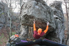 Rock Climbing Photo: Reach out to the lip