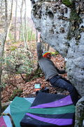 Rock Climbing Photo: Crux first move