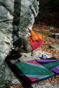 Rock Climbing Photo: Low on the arete