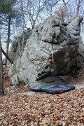 Rock Climbing Photo: The toss!