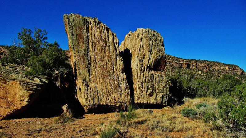 Rift Rock's east face.