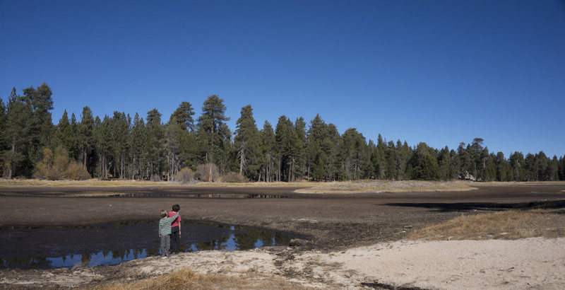Bluff Lake when dry, November 2014.