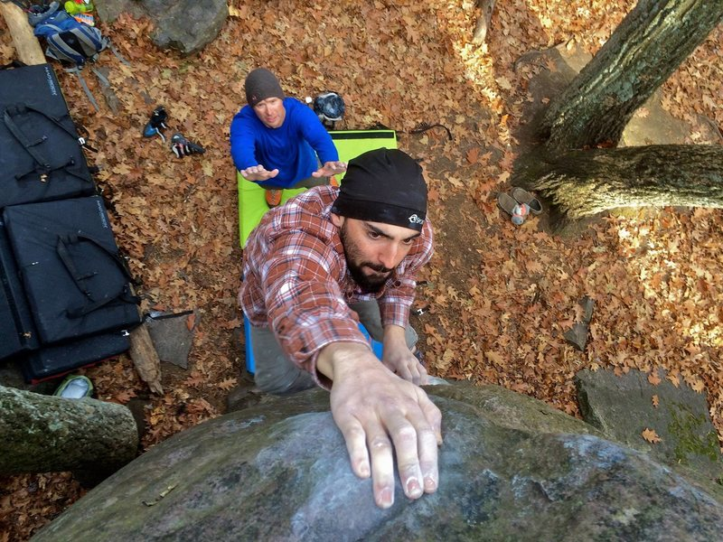 Rock Climbing Photo: Devil's Lake, Wisconsin bouldering. Photo-Skyler F...