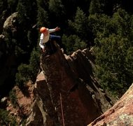 Rock Climbing Photo: me on Rebuffat's Arete
