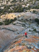 Rock Climbing Photo: Look down from halfway up P3