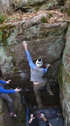 Rock Climbing Photo: Jeremy snagging the jug!