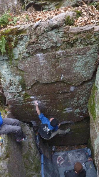 Rock Climbing Photo: Dobbe on the start.