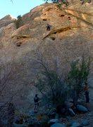Rock Climbing Photo: Jeff Constine leading Rupert The Bear 5.11bc