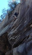 Rock Climbing Photo: Hand jams all the way up after the over hang. Anot...