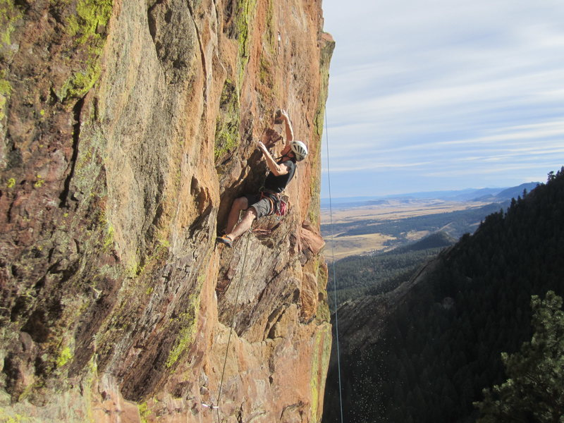 Rock Climbing Photo: Dan Levinson at the first crux of Big Bruce and on...