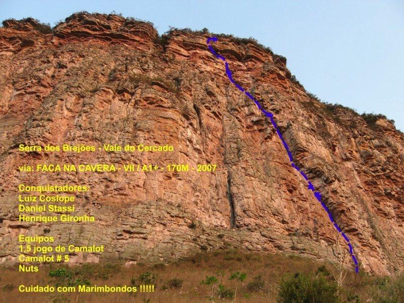 Rock Climbing Photo: Faca na caveira