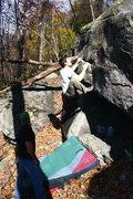 Rock Climbing Photo: The start, trust the smear!