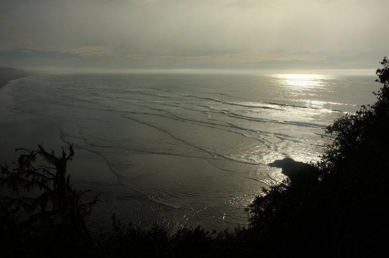 Rock Climbing Photo: Surfers at dusk