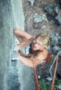 "Rock Climbing Photo: Steve Schneider TRs ""Short Circuit"" bare..."