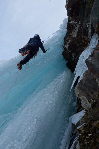 Ice climb in Japan