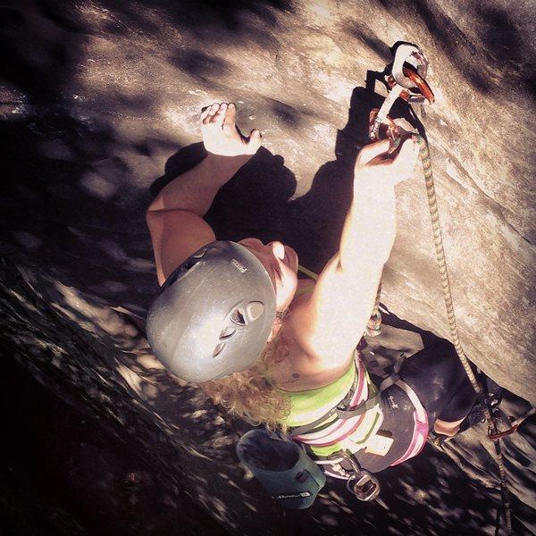 Rock Climbing Photo: Lead climbing Smidgin