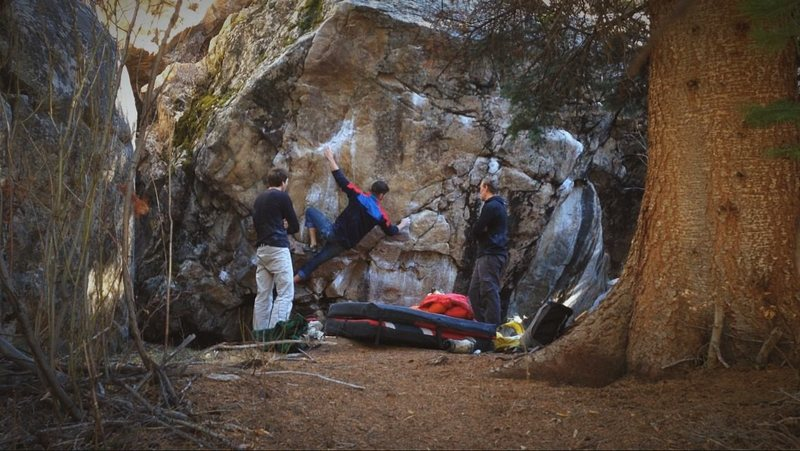 Rock Climbing Photo: About to flip to the undercling.