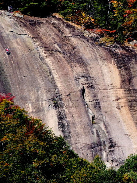 Rock Climbing Photo: Telephoto of Coloring Book (climber at left is at ...