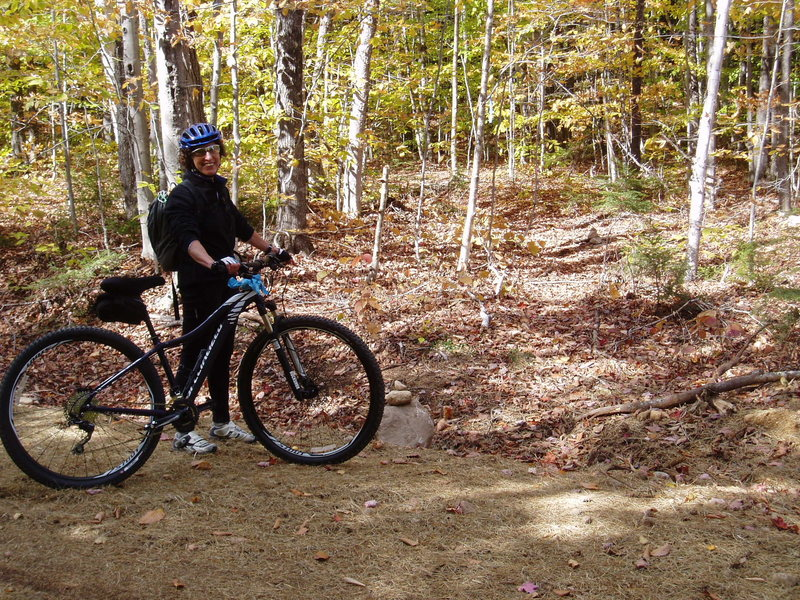 Rock Climbing Photo: [Access photo#2] Bike IN on the new road! 10-15min...