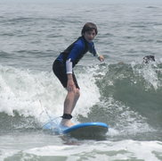 Rock Climbing Photo: Zachary surfing at the Jersey Shore