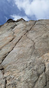 Rock Climbing Photo: Cold Shot is the bolted line that starts just righ...