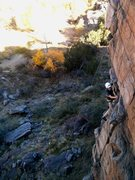 Rock Climbing Photo: Jason on TR, viewed from the top of Pizan