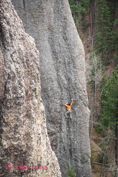 Rock Climbing Photo: Aaron climbing the howler