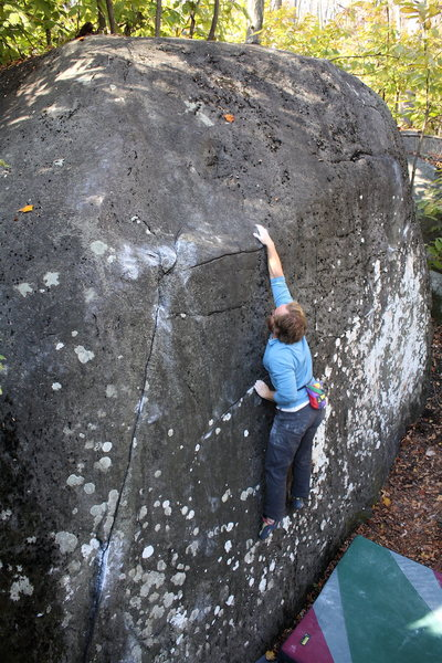 Timmy sticking the crux