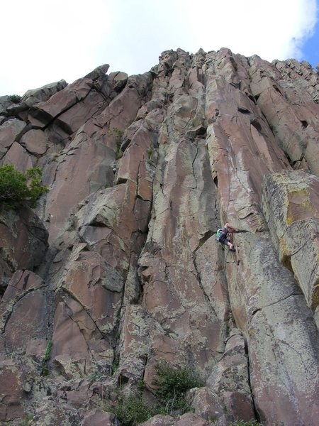 Rock Climbing Photo: Andrew seeing if it would go while we bolted it ov...