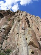 Rock Climbing Photo: My favorite feature on the route, the shallow dihe...