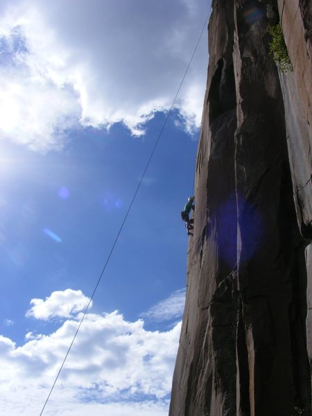 Rock Climbing Photo: You too could pose down for the classic arete phot...