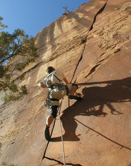 Rock Climbing Photo: Dolores River Canyon - Pump House Crag, Courtney C...