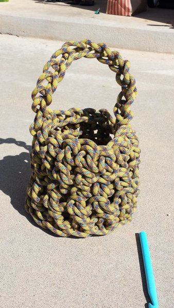 Rock Climbing Photo: Basket from 9mm rope.