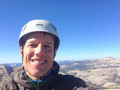 Rock Climbing Photo: Happy camper. Selfie after finishing link-up solo ...