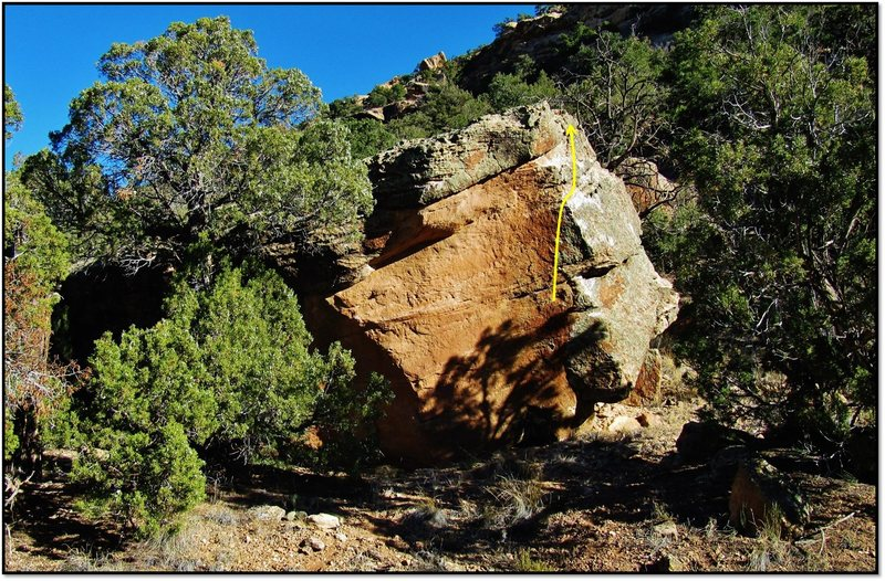 Rock Climbing Photo: Tonic Ton problem beta.