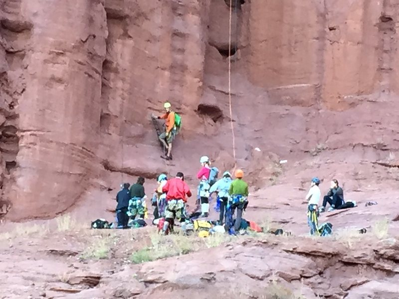 Rock Climbing Photo: huge group KF 1
