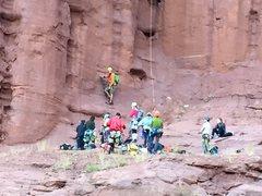 Rock Climbing Photo: huge group KF 1