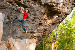 Rock Climbing Photo: This shot of Ryan on Absolute shows most of the ma...
