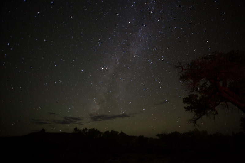 The night sky from our campsite at Superbowl.