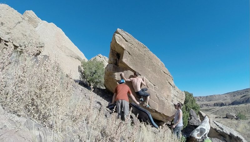 "Rock Climbing Photo: That ""hidden"" sidepull, just before the ..."