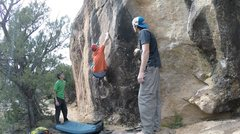Rock Climbing Photo: The set up. No feet, well they are there, but you ...