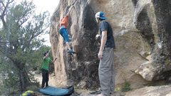 Rock Climbing Photo: The rail. You'll feel your weight pulling back, ju...