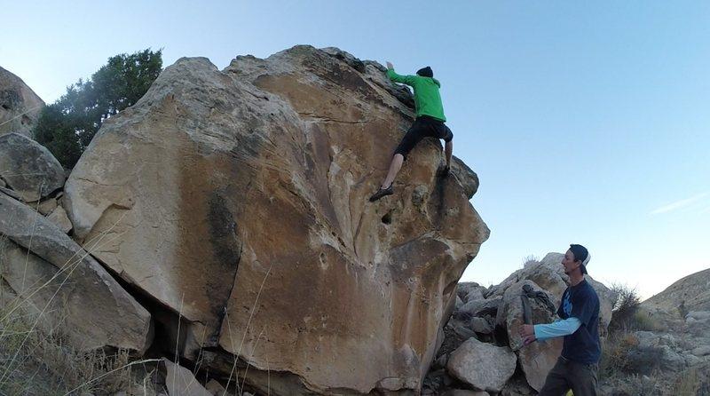 Rock Climbing Photo: Topout spot.
