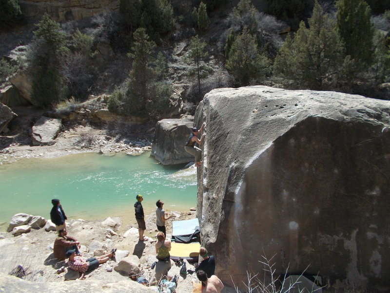 Rock Climbing Photo: Summer session on the Angler - Joe's Valley, UT