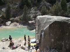 Rock Climbing Photo: Summer session on the Angler - Joe's Valley, UT