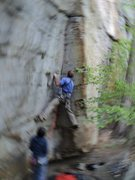 Rock Climbing Photo: JA takes on Scream Seam in May - New River Gorge, ...