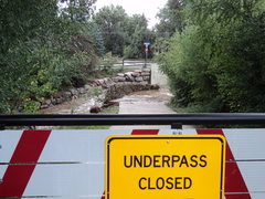 Rock Climbing Photo: Underpass closed due to flooding - Boulder, CO
